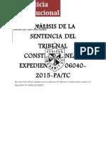 Analisis de La Stc Justicia Constitucional