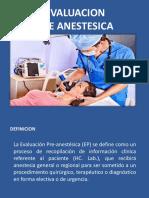 Evaluacion Pre Anestesica