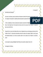 placement letter