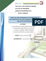 Practica para determinar los parametros de infiltracion en un suelo mediante metodo de doble anillo.pdf