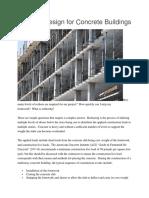 Reshore Design for Concrete Buildings