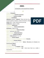 Derecho Corporativo Indice Español - Ingles