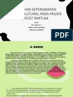 ASUHAN KEPERAWATAN TRANSKULTURAL PADA PASIEN POST PARTUM.pptx