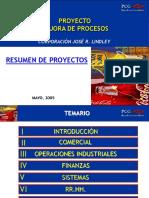 Proyecto Mejora de Procesos Corporacion JR Lindley