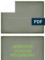 Models of Clinical Psychology