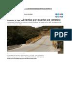 Costos a Las Economias Por Muertes en Carretera