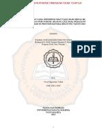 Pelaksanaan CDOB Sesuai SK. Kbpom No HK.00.05.3.2522 Pada PBF Di Prov Babel 2012