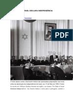 o Estado de Israel Declara Independência