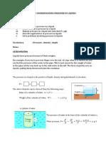 3.2 Understanding Pressure in Liquids