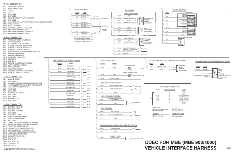 detroit diesel engine codes