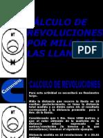 Calculo de Revoluciones por kilometro de la llanta.