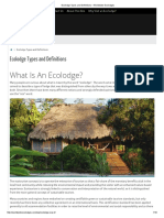 Ecolodge Types and Definitions – Worldwide Ecolodges