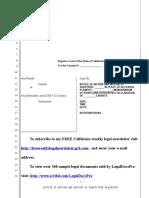 Sample Motion to Substitute Plaintiff in California