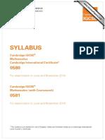 IGCSE Math 0580 y14 Sy