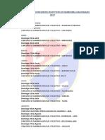 Cronograma de Concursos Selectivos de Marinera Nacionales 2017