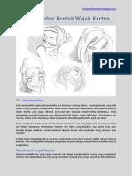 Menggambar Bentuk Wajah Kartun