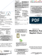 Church Bulletin August 1, 2010