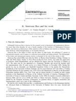 Van Assche W, Vanden Berghe G, Van Der Jeugt J - K. Srinavasa Rao and His Work - J. Comput. and Appl. Math. 160 (2003) 1-8