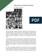El Crack de 1929, El Mayor Desastre Econòmico de La Historia