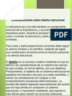 Presentación Consideraciones Sobre Diseño Estructural