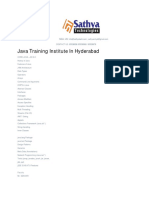 Java course training institute Ameerpet Hyderabad