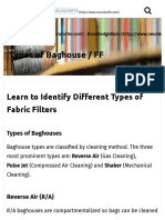 Learn to Identify Different Types of Fabric Filters