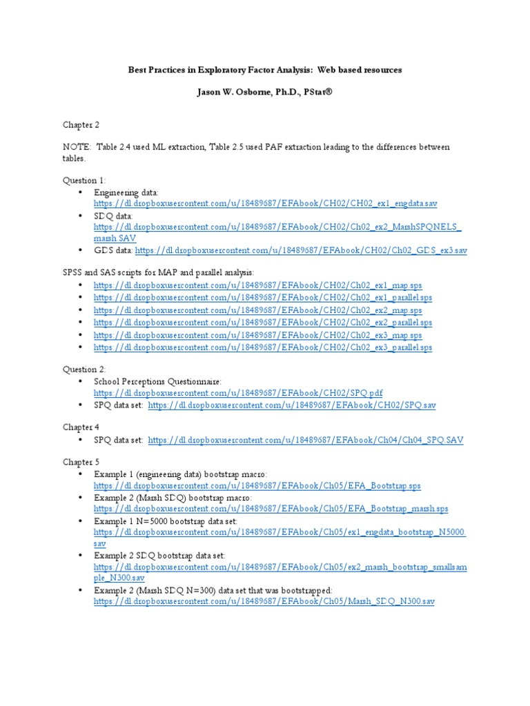 Best Practices in Exploratory Factor Analysis pdf