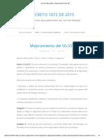 Decreto 1072 de 2015 » Mejoramiento Del SG-SST