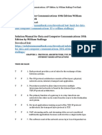 Data and Computer Communications 10th Edition William Stallings Test Bank