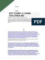 Att Corp. v. Iowa Utilities BD 525 U.S. 366 (1999)