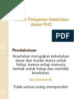 Sistem Pelayanan Kesehatan Dalam PHC