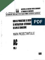 Mapa Proiectantului AC Vol I Alimentare Cu Apa Si Canalizare
