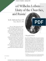 Fidelio - Gottfried Wilhelm Leibniz—the Unity of the Churches, And Russia