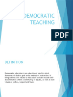 Democratic Teaching Ppt.