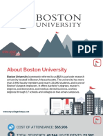 Study Abroad at Boston University, Admission Requirements, Courses, Fees