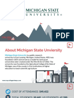 Study Abroad at Michigan State University, Admission Requirements, Courses, Fees