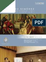 BOOKLET CD Ximenez. Ensemble Músicos Concerto Málaga. BELSUONO