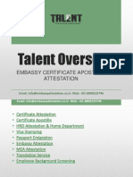 Talent Overseas Certificate Attestation Services Agency India