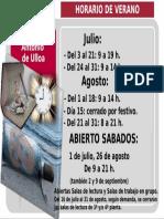 2017 HORARIO DE VERANO EN EL CRAI ANTONIO DE ULLOA