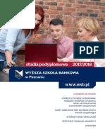 Informator 2017 - Studia Podyplomowe - Wyższa Szkoła Bankowa w Poznaniu