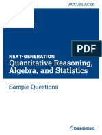 Next Generation Sample Questions Quantitative Reasoning