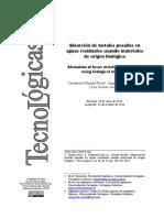 2015 Tejada-Tovar - Review_adsorcion Con Materiales Biologicos
