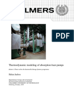 Thermodynamic Modeling of Absorption Heat Pump