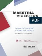Reglamento General y Normas de Estudio 2013