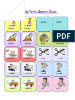 Irregular Verbs Memory Card Game 1 3