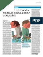 Incluso en Un Mundo Digital, La Globalización Es Evitable