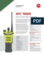 APX 7000XE Spec Sheet