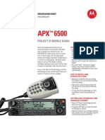 APX 6500 Spec Sheet