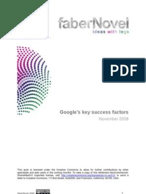 Google Key Success Factors | Ad Sense | You Tube