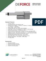 LD Linear Actuator Data Sheet 1607